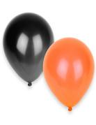 Halloween Luftballons Ballon Set 50 Stück schwarz-orange