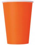 Party-Becher Pappbecher 10 Stück orange 355ml