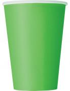 Partybecher Pappbecher 10 Stück grün
