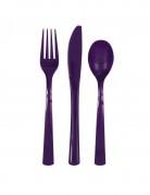Besteck-Set 18-teilig violett