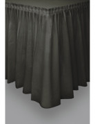 Schwarzer Tischrock schwarz 73 x 426 cm