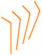 Partystrohhalm-Set für Halloween 50 Stück orange 20cm