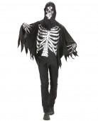 Schauriger Totengeist mit Umhang schwarz-silber