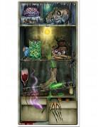 Horror-Kühlschrank Halloween-Türdekoration bunt 76,2 cm x 1,52cm