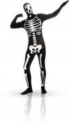 Skelett-Kostüm für Erwachsene schwarz-weiss