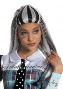 Monster High Frankie Stein Halloween Gothic Kinderperücke lang weiss-schwarz