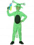 Ausserirdischen-Kostüm für Kinder Alien-Kinderkostüm gepunktet grün