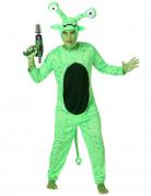 Außerirdischen-Kostüm Alien mit abstehenden Augen grün