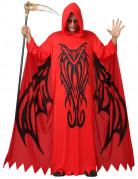 Dämonenlord-Kostüm Teufel-Herrenkostüm mit Ornamenten rot-schwarz
