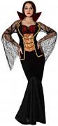 Sexy Vampirgräfin Halloween Kostüm für Damen schwarz-gold