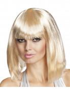 Pagenkopf Pony Perücke glatt blond