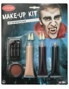 Make-up-Set Vampir 9-teilig schwarz-weiss-rot