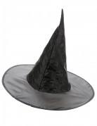 Hexenhut klassisch Kostümzubehör schwarz