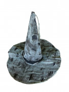 Zerfledderter Hexenhut Halloween-Kostümzubehör grau