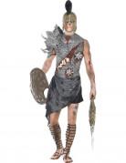 Zombie Gladiator Halloween-Kostüm grau-schwarz-rot