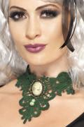 Gothic Halsschmuck Collier grün