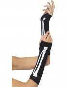 Skelett-Armstulpen schwarz-weiss