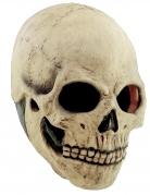 Halloween Totenkopf-Vollmaske Kostümzubehör beige
