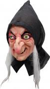 Halloween Hexen-Maske für Erwachsene hautfarben-grau