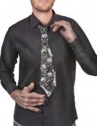 Skelett Krawatte schwarz-weiss