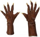 Halloween braune Werwolf-Handschuhe für Erwachsene