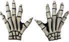 Halloween Skeletthandschuhe Kostumzubehör grau-schwarz