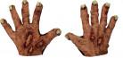 Halloween Zombie-Handschuhe mit Narben hautfarben
