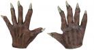 Halloween kurze Vampir-Handschuhe für Erwachsene braun