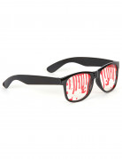 Blutige Horror-Brille Halloween Party-Gadget schwarz-rot