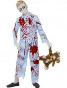Zombie Pyjama Junge Kinderkostüm blau-weiss-rot
