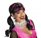 Monster High ™ Draculaura Halloween-Damenperücke schwarz-pink