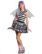 Monster High™-Kostüm für Mädchen Rochelle Goyle™ Lizenzkostüm schwarz-weiss-silber