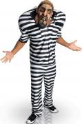 Gefangenen-Kostüm Big Bruizer für Erwachsene schwarz-weiss