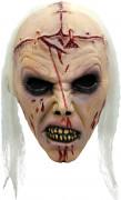 Zombie Maske mit Narben Halloween Kostümaccessoire hautfarben-rot-weiss