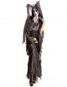 Geister-Lady Vampirlady Damenkostüm grau