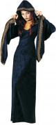 Teuflische Priesterin Halloween-Damenkostüm Kultistin schwarz-gold