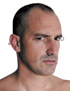 Falsche Piercing-Ringe Set 8 Stück silber 1,3cm