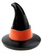 Hexenhut-Tischdeko Platzmarkierer schwarz-orange 7x5,6cm