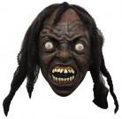 Wilder Zombie Halloween-Latexmaske World War Z Lizenzartikel braun-weiss-schwarz