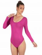 Elastischer Body langarm pink