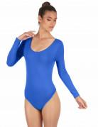 Elastischer Body langarm blau