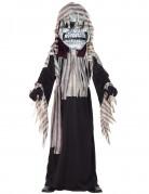 Schauriges Skelett-Monster Halloween-Kinderkostüm schwarz-grau