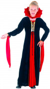 Kleine Vampirin Halloween-Kinderkostüm rot-schwarz