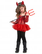 Freche Teufelin Kinderkostüm rot