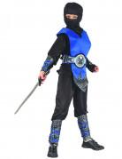 Ninja-Kostüm für Jungen Halloween-Kostüm schwarz-blau