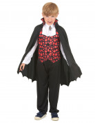 Eleganter Vampir Halloween-Kinderkostüm schwarz-rot