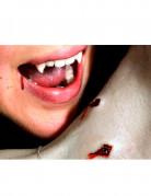 Vampirbiss-Wunde als Abziehbild Halloween Kostümaccessoire rot