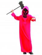 Teufelsrobe Dämonen-Kinderkostüm mit Kapuzenmaske rot-schwarz