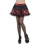 Schachbrett Glitzer-Tutu Harlekin Petticoat schwarz-rot