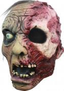 Maske 3/4 verbrannter Zombie für Erwachsene